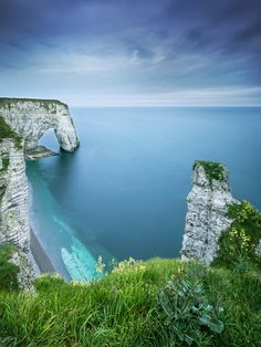 Cliffs and Arch Etretat, Normany Coast, France