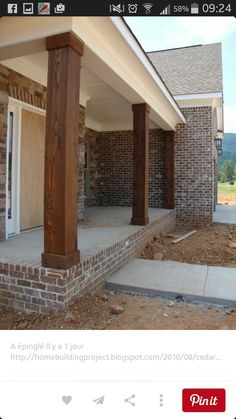 House exterior designs with pillars best front porch pillars ideas on porch columns porch pillars and . house exterior designs with pillars Br House, House With Porch, Cottage House, House Roof, Veranda Pergola, Front Porch Columns, Front Porches, Front Porch Remodel, Front Porch Posts