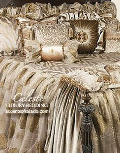 Luxury Bedding High-End Luxury Old World Bedding Sets - Bedding Set - Ideas of Bedding Set - Luxury Bedding High-End Luxury Old World Bedding Sets Luxury Bedding Collections, Luxury Bedding Sets, Large Beds, Cool Beds, Luxurious Bedrooms, Beautiful Bedrooms, Bed Design, Chair Design, Design Art