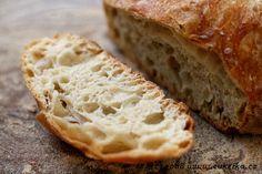 světlý chléb bez hnětení od Cuketky