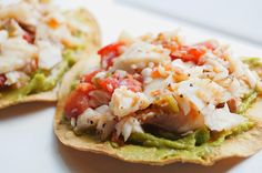 Healthy 21 Day Fix Grilled Fish Tostadas Enjoy these top-rated grilled fish recipes outdoors this summer. Recipes include gingered honey salmon, tilapia piccata and even grilled fish tacos. Grilled Fish Recipes, Easy Fish Recipes, Seafood Recipes, Mexican Food Recipes, Healthy Recipes, Tilapia Recipes, Grilled Salmon, Seafood Meals, Healthy Dinners