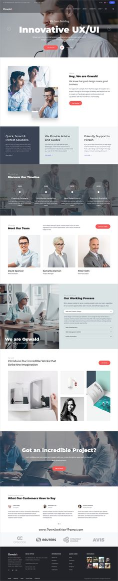 Oswald is clean and modern design responsive multipurpose #WordPress #template for creative #startup #business website with 5 niche homepage layouts to download & live preview click on image or Visit