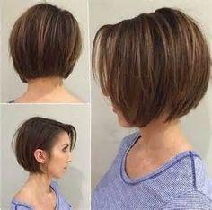 15 Short Hairstyles for Straight Fine Hair – Hair Styles Layered Bob Hairstyles, Haircuts For Fine Hair, Short Bob Haircuts, Haircut Short, Haircut Bob, Hairstyles Haircuts, Bob Hairstyles For Fine Hair, Hairstyle Short, Short Hairstyles For Thin Hair