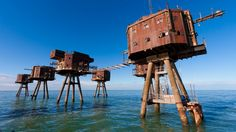 During World War II, the United Kingdom was facing some serious attacks from the sky, and to help minimize the damage done by the Luftwaffe, British engineer Guy Maunsell developed a clever strategy: take to the sea. Though now defunct, these incredible concrete monsters are still standing out at sea, impressive as ever.