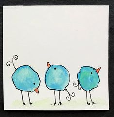 Drawings Easy Whimsical Water Color Blob Birds - Easy and fun watercolor project turns blobs into birds! Watercolor Paintings For Beginners, Watercolor Projects, Watercolor Bird, Tattoo Watercolor, Watercolor Landscape, Watercolor Animals, Watercolor Techniques, Watercolor Background, Watercolor Illustration