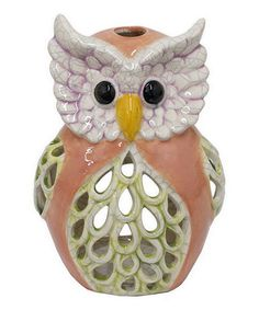 Love this Tan Owl Candle Holder on #zulily! #zulilyfinds