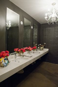 Restroom arrangements are a really nice touch and an easy way to up the 'wow' factor of your wedding.