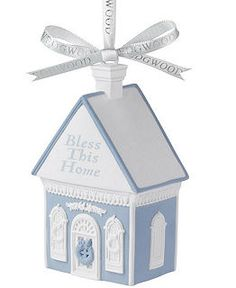 Wedgwood Christmas Ornament Collection - All Christmas Ornaments - Holiday Lane - Macy's - Bless This Home