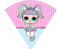 Passatempo da Ana: Kit Digital: Lol Surprise Surprise Party Decorations, Doll Party, Barbie Birthday Party, Free Printable Invitations, Bee Art, Pillow Box, Lol Dolls, Unicorn Party, Clipart