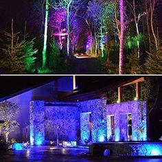 Rgb Led Landscape Light Outdoor Color Changing Landscape Spotlights With Spike Stand 12v Low Vol In 2020 Led Landscape Lighting Landscape Spotlights Landscape Lighting