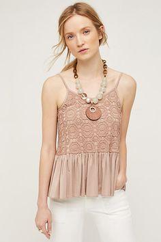 Fluttered Lace Cami - anthropologie.com