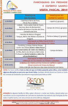PARÓQUIAS DO PORTO SANTO: Visita Pascal 2014