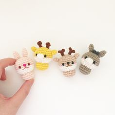 crochet rabbit giraffe deer donkey doll by isodreams 손뜨개 코바늘 토끼 기린 사슴 당나귀 인형 by 이소의꿈타래