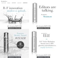 """Editors are buzzing about R+F Active Hydration Serum. """"Like"""" the big news and pass it on. Join the #RFHydrationNation."""