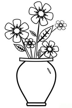 Flower Pot Images For Drawing Sketches
