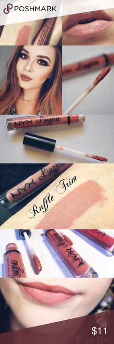 🔅NYX *RUFFLE TRIM* Liquid Lingerie Lip Cream🔅😍 🔅BRAND NEW & UNOPENED🔅NYXS NEW LIQUID LINGERIE *RUFFLE TRIM*🔅Slip into something seductive w/ NYXs Lip lingerie a new weightless lipstick w/ a plush matte finish! Available in a range of nude-kissed colors! From cinnamon pinks to chocolate browns- each sultry shade will coat the curves of ur lips w/ irresistibly creamy colors!🔅INCLUDES SUPER CUTE FREE NEW PRODUCTS THAT EVERYONE LOVES🔅EXPEDITED SHIPPING🔅BUNDLE UR FAV 3 ITEMS NOW FOR AN…