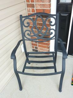 Wrought iron chair, $3. Wrought Iron Chairs, Yard Sale Finds, Rocking Chair, Spaces, Art, Chair Swing, Art Background, Kunst, Rocking Chairs