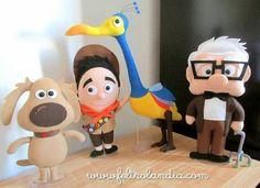 Decoration Party Children Up High Adventures Disney Diy, Disney Crafts, Up Pixar, Baby Crafts, Cute Crafts, Diy And Crafts, Felt Crafts Dolls, Felt Dolls, Disney Ornaments