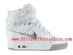 """Nike Air Revolution Sky Hi FW City Pack """"Paris"""" Chaussure Montante Nike Pas Cher Pour Femme Blanc 633525-100"""
