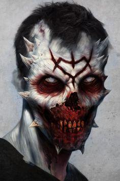 scifi-fantasy-horror - 10 results for zombie Arte Horror, Horror Art, Fantasy Creatures, Mythical Creatures, Vampires, Zombies, Dark Fantasy, Fantasy Art, Portraits Illustrés