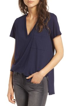 3382e5d1483585 Lush Raw Edge Side Slit Tee in Eclipse. Nordstrom Anniversary Sale ...