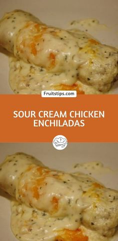 EASY SOUR CREAM CHICKEN ENCHILADAS: Everyone in my family loves it! I could serve it 7 days a week and there would be smiling faces all around the dinner table if I was serving it. But these enchiladas are even better Mexican Dishes, Mexican Food Recipes, Great Recipes, Easy Recipes, Healthy Recipes, Bbq Pitmasters, Comida Latina, Cream Of Chicken Soup, Sour Cream Chicken Casserole