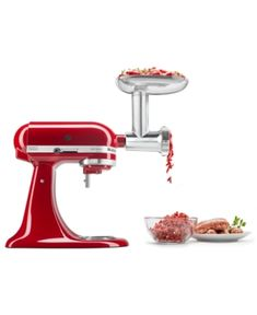 From fresh beef for meatballs to bread crumbs to finish the recipe, this grinder set from KitchenAid makes cooking quick and easy. An array of grinding plates let you get creative, while a sausage stuffer lets you make your own links. Lilac Nursery, Kitchen Aid Mixer Attachments, Fresh Bread Crumbs, Grinder, Fresh Meat, Outdoor Lounge Furniture, Rustic Wood, Baby Shop, Metal