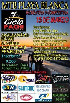 Recreativa MTB Playa Blanca 2015 | Recreativas de MTB Costa Rica