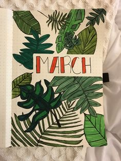 Tropical March bullet journal.