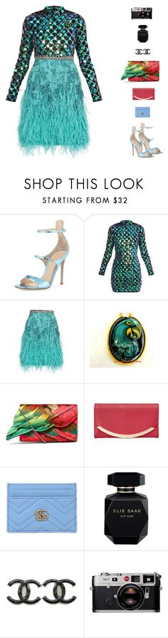 """Linda VII"" by sol4nge ❤ liked on Polyvore featuring Gianvito Rossi, Matthew Williamson, Sarah's Bag, See by Chloé, Gucci, Elie Saab, Chanel, Leica, rio and carnaval"