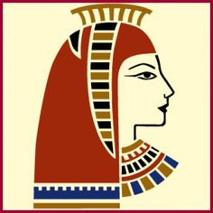 Egyptian Goddess Stencil | Click through to buy this gorgeous home decor and crafting stencil from The Artful Stencil! US Shipping in only 5 days. We ship all over the world.