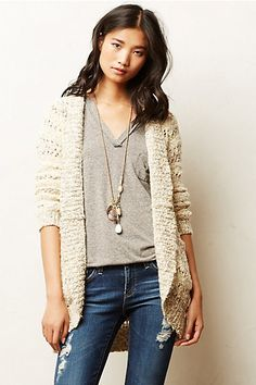 Soubrette Marled Cardigan    -Material: cotton + polyester + nylon + acrylic + wool + mohair -Price: €70 -Ships from the UK