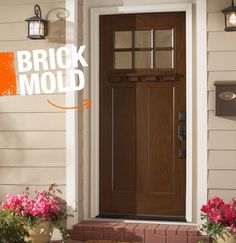 Brick mold is the milled wood (and now plastic) trim that surrounds a doorway. It has nothing at all to do with bricks or masonry.