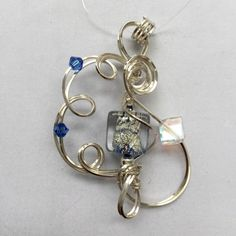Silver Blue Murano Pendant. There is a fountain of youth: it is your mind, your talents, the creativity you bring to your life and the lives of people you love. When you learn to tap this source, you will truly have defeated age. Sophia Loren