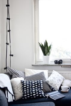 Cozy reading place by the window