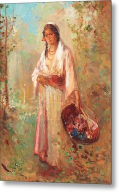 The Flower Girl Beach Towel for Sale by Vermont Nicolae Girl Posters, Bath Girls, Post Impressionism, Art Database, Oil Painting Reproductions, Classical Art, Figure Painting, Vermont, Great Artists