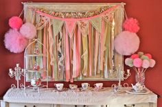 Vintage Rose Shabby Chic Princess Birthday or Baby Shower Party Package on Etsy, $250.00