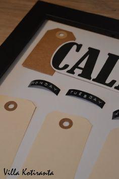 / DIY: Calendar, which can be used year after year! Diy Calendar, Company Logo, Logos, A Logo, Legos