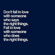Dont fall in love with...