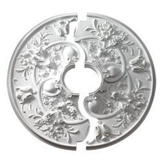 """Two Piece Ceiling Medallions CM32RO2 31 7/8""""OD x 5 3/4""""ID x 2 3/16""""P, Ceiling Medallion, Rochelle (Two-Piece)"""