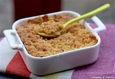 Crumble aux pommes et cannelle #recette #crumble #pommes #cannelle