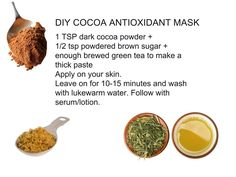 DIY Antioxidant Mask! #diy #antioxidant #facemask #greentea #tea #allnatural #vegan #skincare #recipes #apsaraskincare