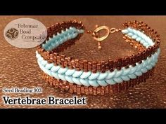 "Make a ""Vertebrae Bracelet"" - YouTube free tutorial from The Potomac Bead Company.  Thousands of free tutorials available on www.youtube.com/PotomacBeadCo.  Supplies from www.TheBeadCo.com www.potomacbeads.com"