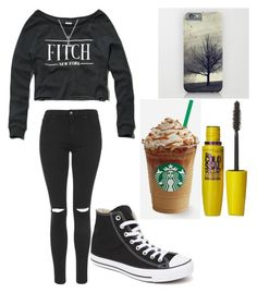 """""""Untitled #319"""" by itspancakes ❤ liked on Polyvore featuring Abercrombie & Fitch, Topshop, Converse and Giani Bernini"""