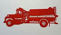 Amazon.com: Red Fire Truck / Red Fire Engine 2Ft Metal Wall Art: Toys & Games