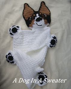 Rattie lovey blanket crochet pattern (not free)