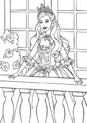 Free Barbie princess coloring book pages