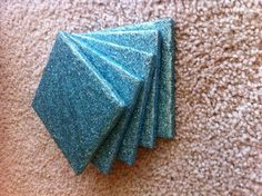 Felt squares on the bottom will prevent scratching of your surfaces. The glitter is well sealed so that none will spread.