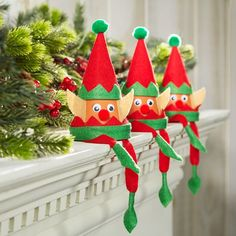 Make holiday fun with the kids and this easy to make Kids Club® Clay Pot Elf Idea Christmas Clay, Christmas Crafts For Kids, Christmas Projects, Diy Crafts For Kids, Holiday Crafts, Fun Crafts, Christmas Gifts, Christmas Ornaments, Holiday Fun