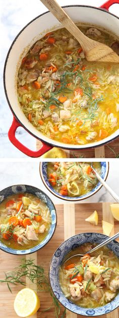 Lemon Chicken Stew with Orzo | http://www.foodiecrush.com/